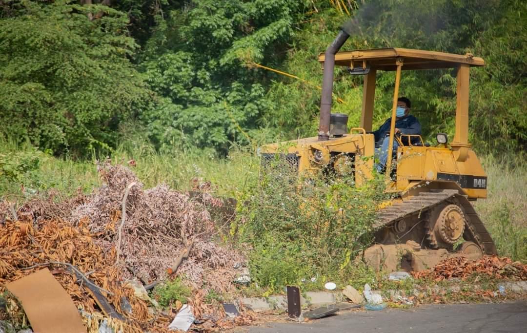 Realizan mantenimiento y limpieza en varios sectores de la Ciudad